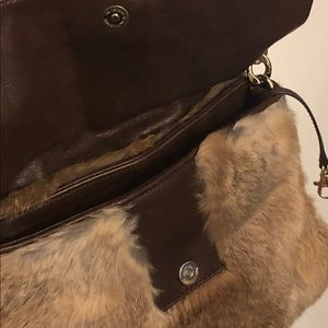 Michael Kors Brown / Tan Crossbody Fur bag